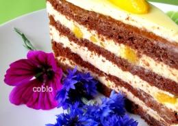 cobio-recept-cokoladna torta z mangom in belo cokolado