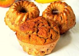 Muffini z banano in jabolkom