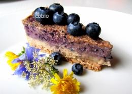 cobio-recept-presna bananina torta z borovnicami