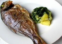 cobio-recept-pecena-orada-s-kremno-blitvo-in-krompirjem
